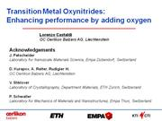 Transition Metal Oxynitrides: Enhancing 