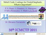 Metal Oxide Coatings for Dental Implants