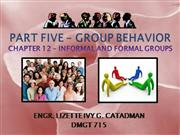 FORMAL AND INFORMAL GROUPS