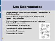Los sacramentos.