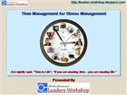 Time Management for Stress Management