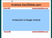 Introduction to Google Android Platform