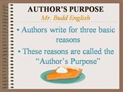 author purpose
