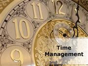 Time Management PPT Content