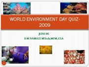 WORLD ENVIRONMENT DAY QUIZ