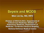 Sepsis and MODS