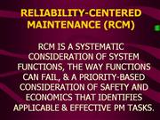 RELIABILITY-CENTERED MAINTENANCE (RCM)