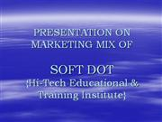 MARKETING MIX OF EDUCATIONAL INSTITUTE