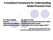 A Analytical Framework for Understanding