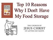 TOP 10 REASONS WHY I DON'T HAVE MY FOOD