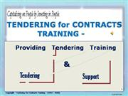TENDERING for CONTRACTS TRAINING PRESENTATION