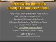 Toronto Waste Removal 416-461-2588