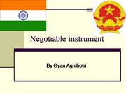 negotiable instrument