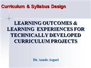 Learning+Outcomes+and+Learning++Experiences+*+Dr.+A.+Asgari