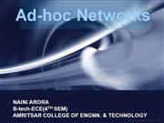 Ad hoc networking ppt