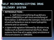SELF MICROEMULSIFYING DRUG DELIVERY SYSTEM - Copy