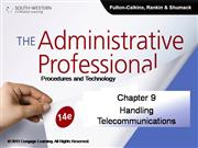 CH09 The Administrative Professional