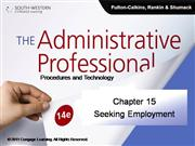 CH15 The Administrative Professional