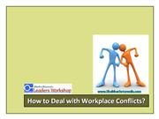 How to Deal with Workplace Conflict