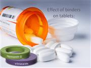 Effect of binders on tablets