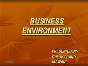 ppt on business environment