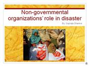 ngo's role in disasters