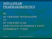 Non linear pharmacokinetics