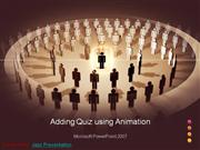 Animate your Quiz Presentations
