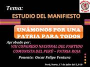 ESTUDIO DEL MANIFIESTO II