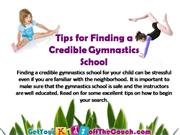 tips for finding a credible gymnastics school