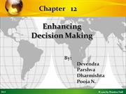 MIS - enhancing decision making