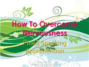 Public Speaking Nervousness