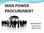 man power procurement