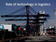 Role of technology in logistics
