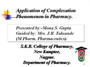 Application of complexation 01