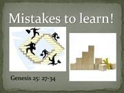mistakes to learn
