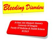 BLEEDING DISORDRES