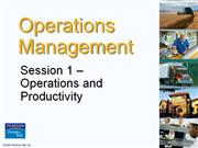 Operation Management - Chapter 1