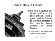 paris hotels france - best paris hotels in france