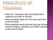 Principles of Training GCSE PE