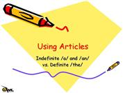 Article Usage