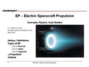 intro to electric propulsion