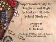 Superconductivity for Teachers Aug 9 Final