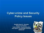 08 Cybercrime and Security Policy Issues