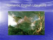 Romantic+English+Literature+