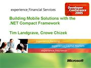 Developing Mobile Applications with the NET Compac
