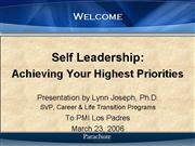 Self Leadership Lynn Joseph