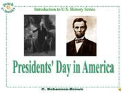 PEN 2920a Presidents Day in America