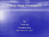 energy Drink Presentation