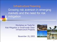 Carbon Finance Risk Management Workshop